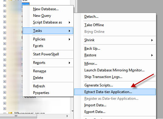 Extract Data-tier Application