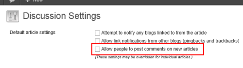 WordPress discussion settings image