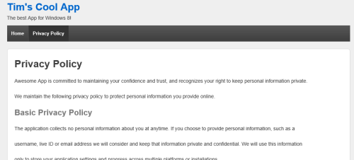 Privacy page image