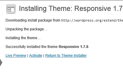 Responsive theme install image