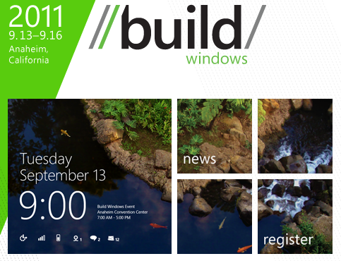 BUILD with Windows 8 logo