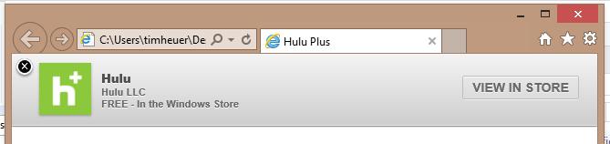 Hulu smart app banner example