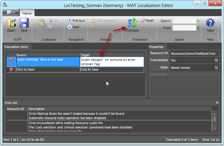 MAT Localization Editor