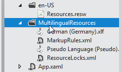 Multilingual resources folder