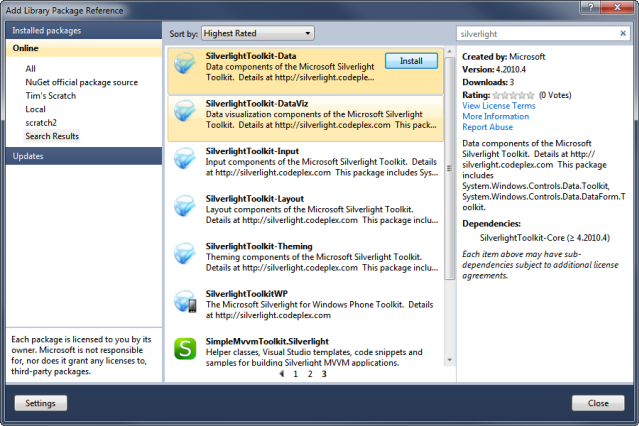 silverlight 5 toolkit