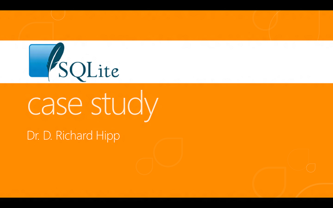 SQLite case study slide