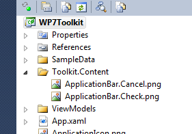 WP7 toolkit icon layout