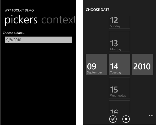 WP7 Toolkit pickers