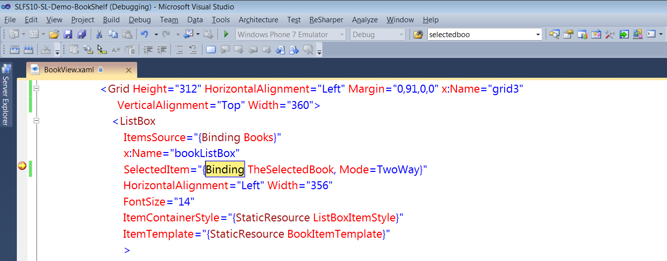 XAML Breakpoint Editor